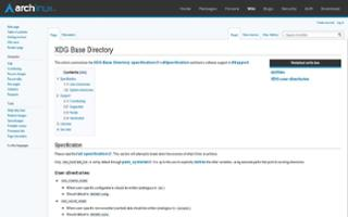 XDG Base Directory support - ArchWiki
